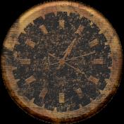 Clock- Tan Grunge