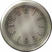 Clock- Silver With Numbers