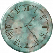 Clock- Blue Marbeled