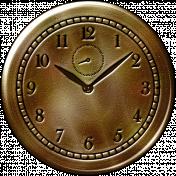 Clock- Dark Tan