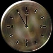 Clock- Very Dark Tan