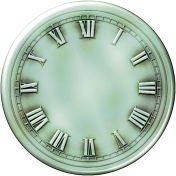 Clock- Blue