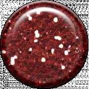 Family Game Night Glitter Brad- Red