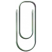 Family Game Night Paper Clip- Light Blue