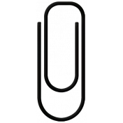 Family Game Night Paper Clip- Black