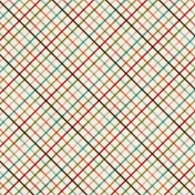 Family Game Night- Diagonal Plaid Paper