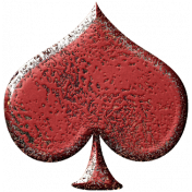 Metal Card Shapes- Spade Red