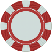 Poker Game Coin- Red