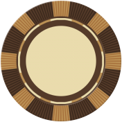 Poker Game Coin- Brown