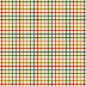 Outer Space Multicolor Plaid Paper