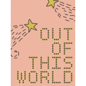 Outer Space Journal Card- Out Of This World