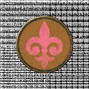 Chipboard Circle- Fleur
