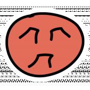 Red Moon Sticker
