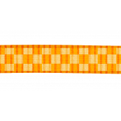 Orange Gingham Ribbon- Cambodia