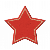 Red Chipboard Star