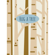 Scout Journal Card- Hug A Tree