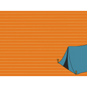Scout Journal Card- Tent