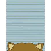 Scout Journal Card- Racoon