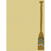 Scout Journal Card- Paddle