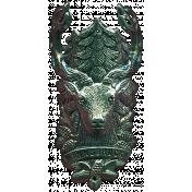 Khaki Scouts Metal Deer