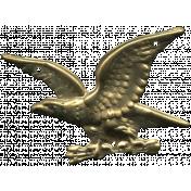 Khaki Scouts Metal Eagle