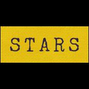 Khaki Scouts Label- Stars