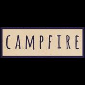 Khaki Scouts Label- Campfire
