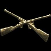Khaki Scouts Medal Pin- Guns