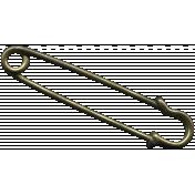 Khaki Scouts Medal Safety Pin