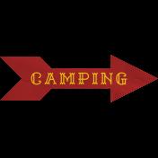 Khaki Scouts Label- Camping Arrow
