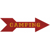 Khaki Scouts Label- Camping Arrow