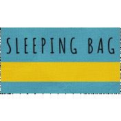 Khaki Scouts Label- Sleeping Bag