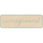 Khaki Scouts Label- Campground