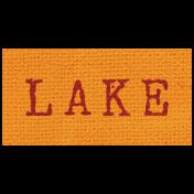 Khaki Scouts Label- Lake