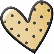 Pencil- Polka Dot Heart Sticker