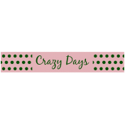 Mix & Match Label- Crazy Days