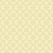 Damask 11 Paper- Blue & Yellow