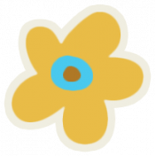 Mix & Match Yellow Flower Sticker