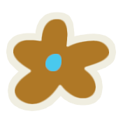 Mix & Match Brown Flower Sticker