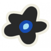 Mix & Match Black Flower Sticker
