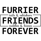 Pet Word Art- Furrier Tails Whiskers Friends Cuddles Kisses Forever