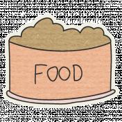 Pet Sticker- Food Dish