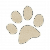 Pet Sticker- Paw Print