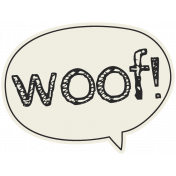 Puppy Dog Tag- Woof