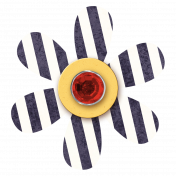 Striped Flower with Jewel