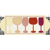 Boozy Wine Tag 73- Wine Glasses