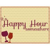 Boozy Wine Journal Card- It's Happy Hour Somewhere
