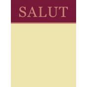 Boozy Wine Journal Card- Salut