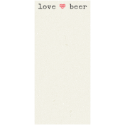 Boozy Beer Journal Block- Love Beer