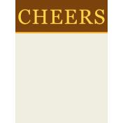Boozy Beer Journal Block- Cheers